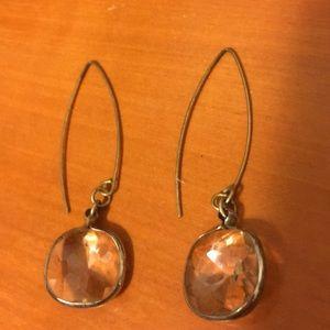 Pretty cut crystal dangling earrings